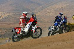 #10 KTM 690: Jacek Czachor, #19 Yamaha WR 450 F: Martin Macek