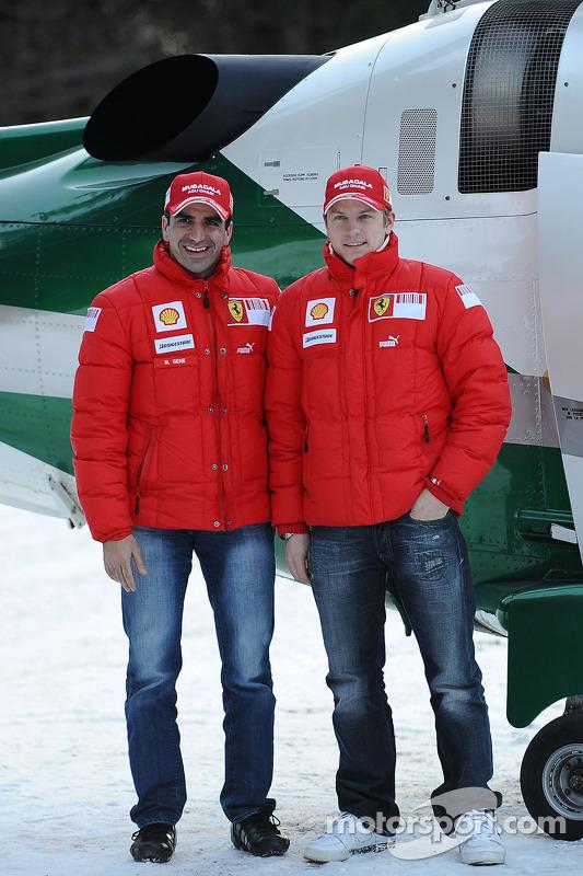 Marc Gene y Kimi Raikkonen