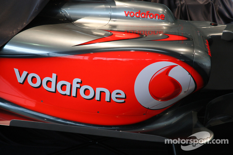 Detail of the new McLaren Mercedes MP4-24