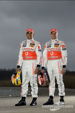 Lewis Hamilton und Heikki Kovalainen