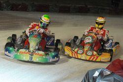 Course de kart sur glace : Felipe Massa