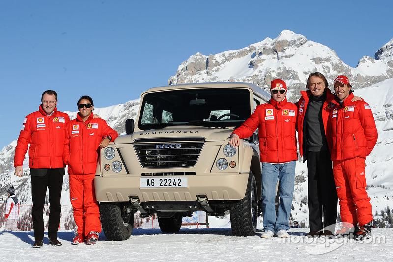 Stefano Domenicali, Felipe Massa, Kimi Raikkonen, Luca di Montezemolo ve Luca Badoer