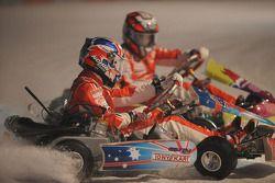 Kart race on ice: Casey Stoner