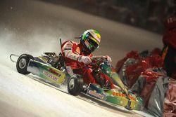 Kart race on ice: Felipe Massa