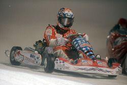 Kart race on ice: Nicky Hayden