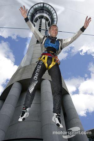 Chris van der Drift jumps off the Skytower