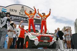 Car category podium: Nani Roma and Lucas Cruz Senra