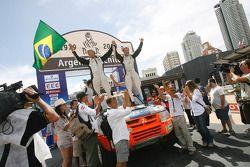 Podium catégorie voiture : Paulo Henrique Pichini et Lourival Roldan