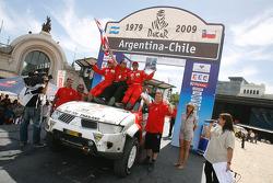 Car category podium: Mana Pornsiricherd and Thierry Lacambre