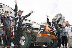 Car category podium: Miroslav Zapletal and Tomas Ourednicek