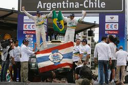 Car category podium: Jean De Azevedo and Youssef Haddad