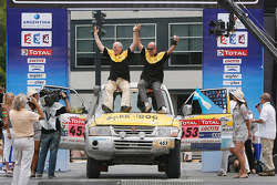 Car category podium: Jérôme Hardy and Frédéric Becart