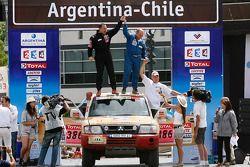 Podium catégorie voiture: Christian Barbier et Jean-Michel Richaud