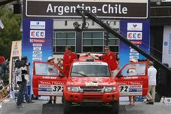 Car category podium: Laszlo Liszi and Jozsef Fenesi