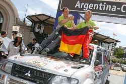 Car category podium: Stephan Schott and Holm Schmidt