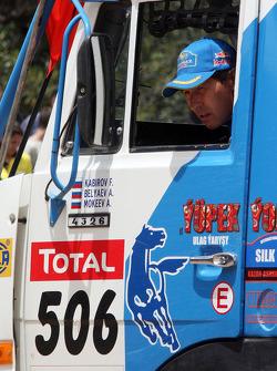 Truck category podium: Firdaus Kabirov