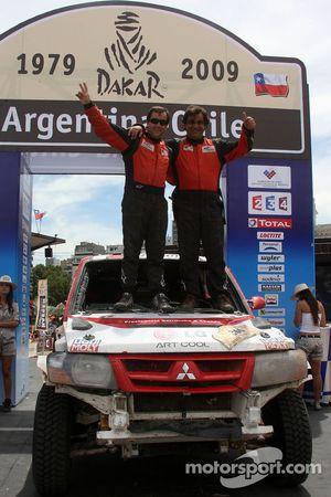 Podium catégorie voiture : Francisco Inocencio et Paulo Fiuza