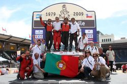 Podium catégorie voiture : Francisco Inocencio, Paulo Fiuza, Nuno Pedro Inocencio et Jaime Santos