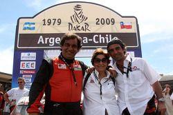 Podium catégorie voiture : Francisco Inocencio et Nuno Pedro Inocencio