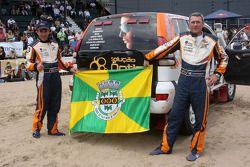 Podium catégorie voiture : Adelio Machado et Laurent Flament