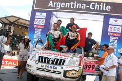 Podium catégorie voiture : Francisco Pita et Humberto Goncalves