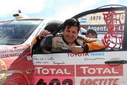 Podium catégorie voiture : Martin Campos Pereira