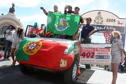 Podium catégorie voiture : Martin Campos Pereira et Jose Manuel Teixeira Marques