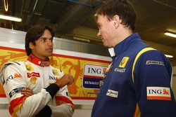 Nelson A. Piquet ve Alan Permane, Şef Yarış Mühendisi, Renault F1
