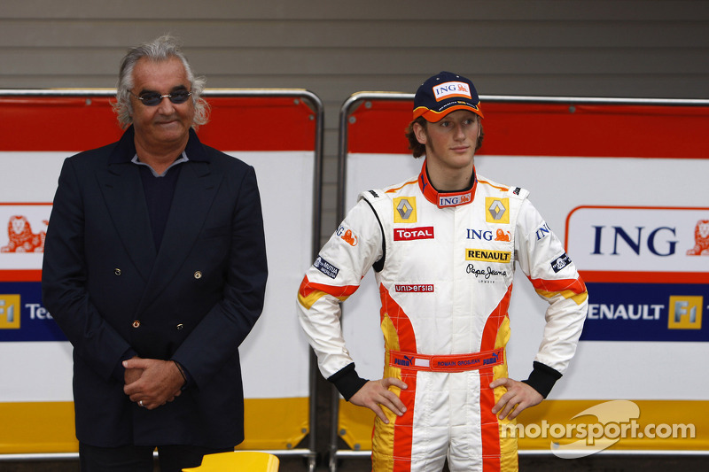 Flavio Briatore ve Romain Grosjean ve yeni Renault R29