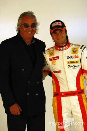 Flavio Briatore y Nelson A. Piquet