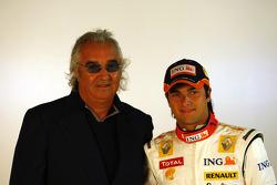 Flavio Briatore en Nelson A. Piquet