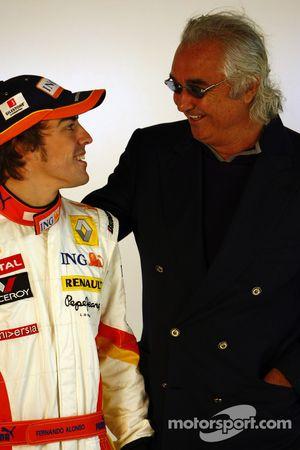 Fernando Alonso und Flavio Briatore, Renault