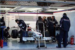 Robert Kubica, BMW Sauber F1 Team after his first installation lap