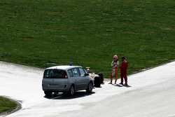 Nelson A. Piquet, Renault F1 Team, R29 s'arrête sur le circuit
