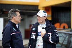 Robert Kubica, BMW Sauber F1 Team, ve Dr. Mario Theissen