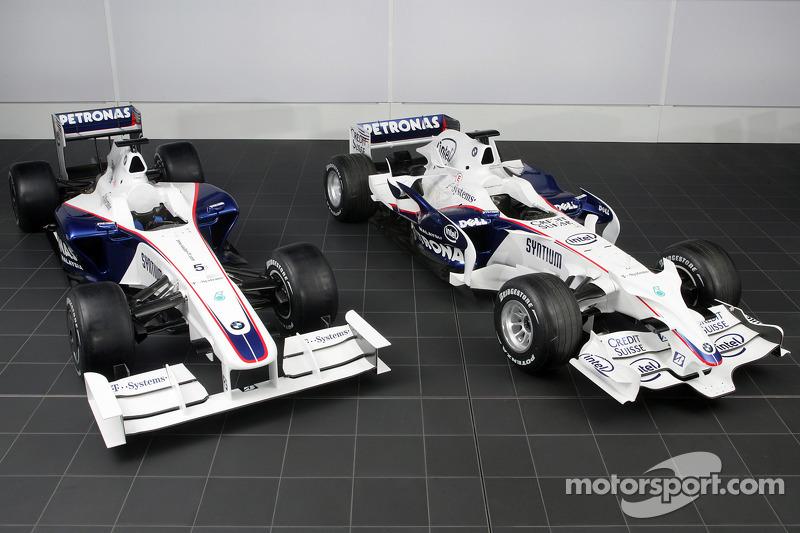BMW Sauber F1.09 (on left), BMW Sauber F3.08 (on right)