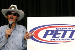 NASCAR Sprint Cup Series legend Richard Petty speaks with the media, unveiling the Richard Petty Mot