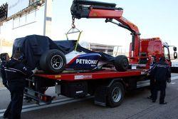 Robert Kubica, BMW Sauber F1 Team, short stop with some techn. problem