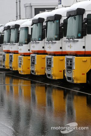 Un camion Renault F1 Team