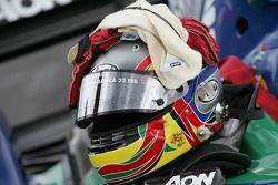 Helmet of Adrian Zaugg, driver of A1 Team South Africa