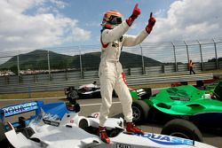 Winner Neel Jani celebrates