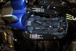 Le cockpit de la #9 Patron Highcroft Racing Acura ARX 02a Acura