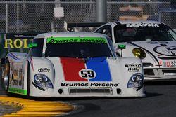 #21 Battery Tender MCM Racing Pontiac GTO.R: Jason Daskalos, Jim Stout, #59 Brumos Racing Porsche Ri