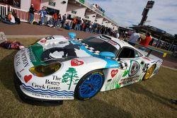 Porsche 911 GT1 on display
