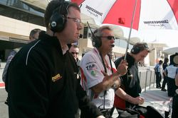 The DAMS team watch the race action