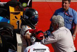 Sergio Perez in parc ferme