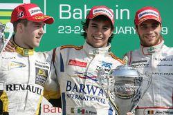 Sergio Perez 1er, Davide Valsecchi 2ème, Jerome d'Ambrosio 3ème