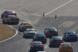 GS start: #59 Rehagen Racing Ford Mustang GT: Dean Martin, Larry Rehagen, #91 Automatic Racing BMW M