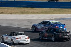 #32 Motorsports BMW M3 Coupé cinétique: Glenn Bocchino, Todd Lamb, #30 Meyer Motorsports Mazda RX-8: Eric Meyer, Payton Wilson, #23 V-Pack Motorsport BMW Z4: Zach Arnold, Sam Schultz