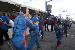 Brumos Racing team members celebrate victory